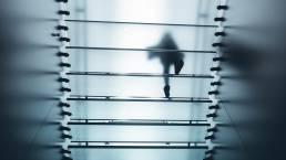 Person walking above floor