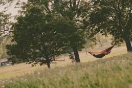 green space garden resting on hammock