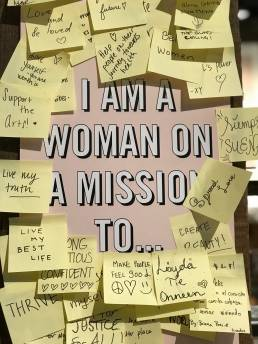 women on a mission post it notes